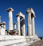 Ancient Greek Temple Of Aphaia Royalty Free Stock Photography