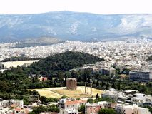 2017-4 Ancient Greek Temple of Olympian Zeus in Athens, Greece. stock photos