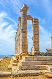 The Ancient Greek temple of Poseidon royalty free stock images