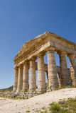 Ancient Greek temple Segesta front view. The unfinished temple of Segesta in Sicily, Italy. He measures 21 x 56 m with 6x14 columns. He is preserved in an almost Royalty Free Stock Photography