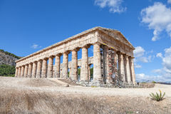 Ancient greek temple of Segesta, Sicily Stock Images
