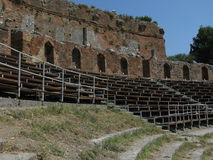 Ancient Greek Theater. A Greek theater in Taormina, Sicily that is still in use Stock Photography