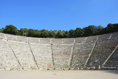 Ancient greek theater Royalty Free Stock Image