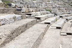 Ancient Greek theater at Ephesus Royalty Free Stock Photography