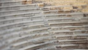 Ancient Greek theater in Patara, Turkey stock footage