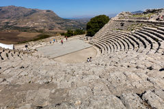 Ancient Greek Theater of Segesta Royalty Free Stock Images