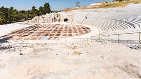 Ancient Greek theater in Syracuse city in Sicily Royalty Free Stock Photography