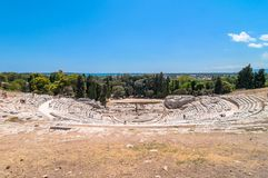 Ancient Greek theater of Syracuse, Sicily, Italy Royalty Free Stock Photo
