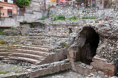 Ancient greek theater in Taormina Stock Photography