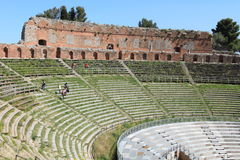 Ancient greek theater, Taormina, Italy Stock Images