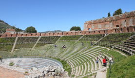 Ancient greek theater, Taormina Royalty Free Stock Photo