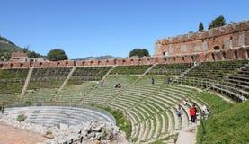 Ancient greek theater, Taormina Royalty Free Stock Photo