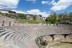 Ancient greek theatre of Ohrid, Macedonia Royalty Free Stock Photos