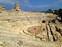 Ancient Greek theatre Syracuse. Ancient Greek theatre of Syracuse Stock Images