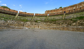 Ancient Greek theatre in Taormina, Sicily Royalty Free Stock Photography