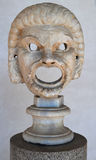 Ancient Greek theatrical mask Stock Photo