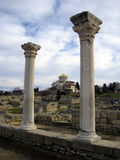 Ancient Greek Town. the Chersonese. Volodimir's Cathedral. Royalty Free Stock Photos