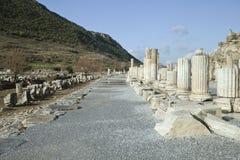 Ancient greek town of Ephesus in Turkey Stock Photo