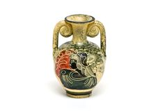 Ancient greek vase. Isolated ancient bowl from greece Royalty Free Stock Photos