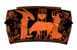 Ancient greek vase: Democracy Royalty Free Stock Photo