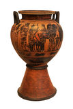 Ancient greek vase depicing a chariot Stock Photos