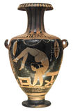 Ancient greek vase depicting a gymnast Royalty Free Stock Photography