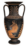 Ancient greek vase isolated on white stock photography