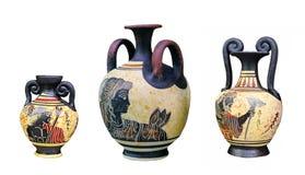 Ancient Greek vase isolated on white background Stock Images