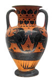 Ancient greek vase with two lions Stock Photography
