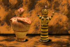 Ancient Greek Vases Stock Images