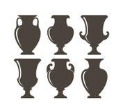 Ancient Greek vases. Isolated vases on white background Royalty Free Stock Photo