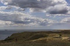 Ancient Greek village ruins of ancient Olbia northern coast of the Black Sea. Ukraine stock photography