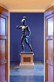 Ancient Greek warrior statue. Greek sculpture of a young man in Uffizi Gallery, Florence, Italy Stock Photos