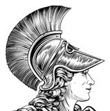 Ancient Greek Warrior Woman Royalty Free Stock Images