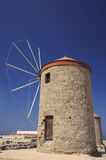 Ancient greek windmill on Rhodes Stock Photography