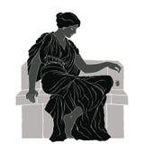 Ancient Greek woman. stock photos