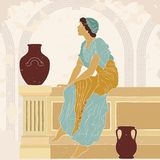 Ancient Greek woman. royalty free stock photos