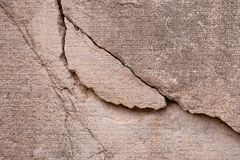 Ancient Greek writing chiseled on stone.  stock images