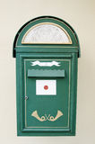 Ancient green mail box Stock Images