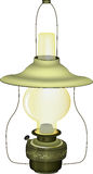 Old green lamp Stock Image