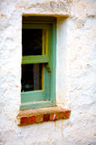 A ancient green wooden window Royalty Free Stock Images