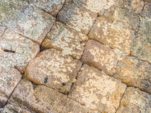 Ancient grids rock pattern and texture Stock Images