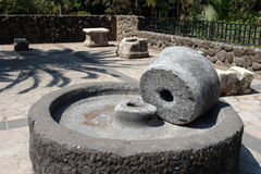 Ancient Grinding Stone Mediterranean Royalty Free Stock Photography