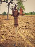 Ancient groundwater pumps royalty free stock images