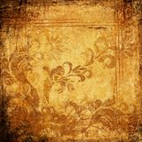 Ancient grungy pachment with ornaments vector illustration