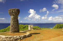 Ancient Guam Latte Stone royalty free stock photos