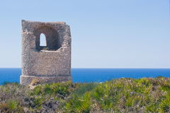 Ancient guard tower on the coast Stock Image