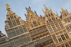 Ancient guild houses situated on the central square in Antwerp Stock Photography