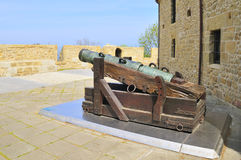 Ancient gun at San Sebastian (Donostia) Stock Photos