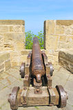 Ancient gun at San Sebastian (Donostia) Royalty Free Stock Photo